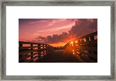 Pink Sky Sunset Framed Print by Don Durfee