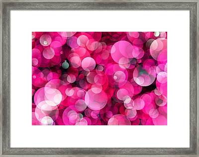 Pink Soap Bubbles Framed Print