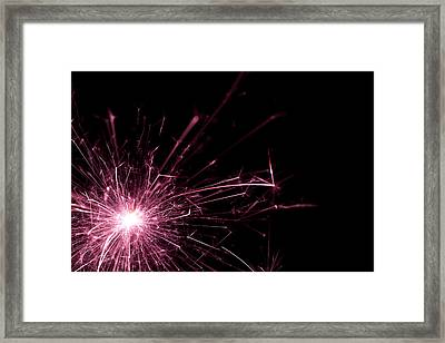 Pink Sparkle Framed Print by Samuel Whitton