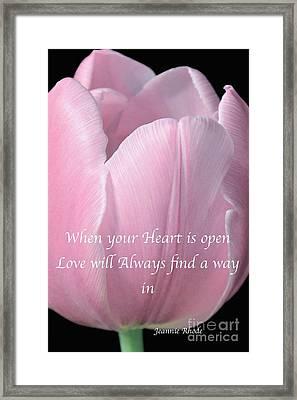 Pink Spring Tulip Framed Print