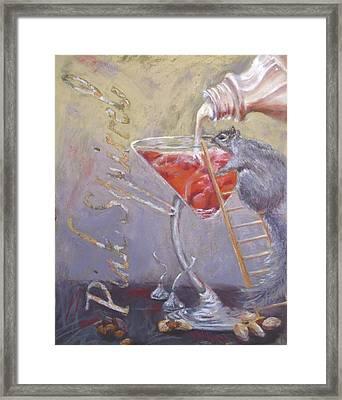 Pink Squirrel Framed Print