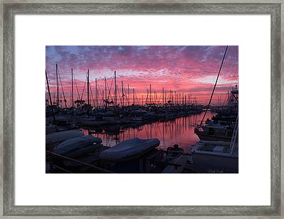 Pink Summer Sunset  Framed Print by Heidi Smith