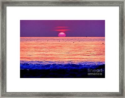 Pink Sun Framed Print