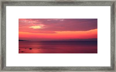 Pink Sunrise  Framed Print by Leyla Ismet