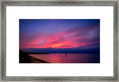 Pink Sunset Framed Print by Eva Kondzialkiewicz