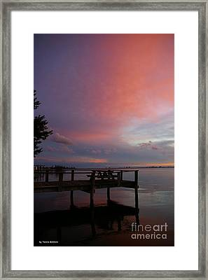 Framed Print featuring the photograph Pink Sunset by Tannis  Baldwin