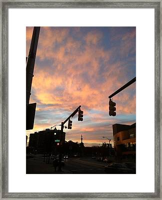 Framed Print featuring the photograph Pink Sunset by Toni Martsoukos