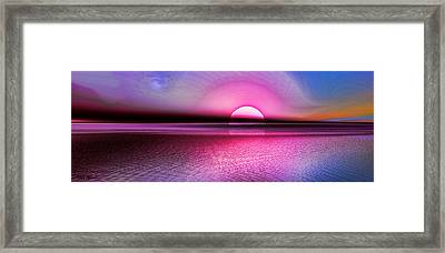 Pink Sunset Framed Print by Tyler Robbins