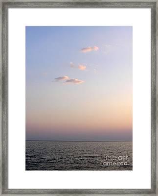 Pink Sunset Framed Print by Zoran Berdjan