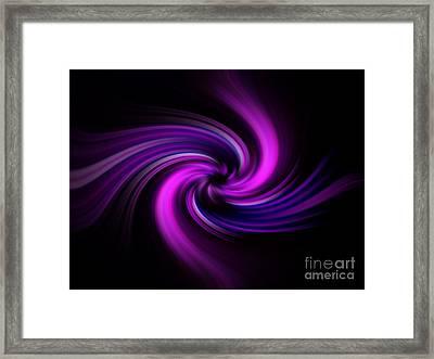 Pink Swirl Framed Print by Trena Mara