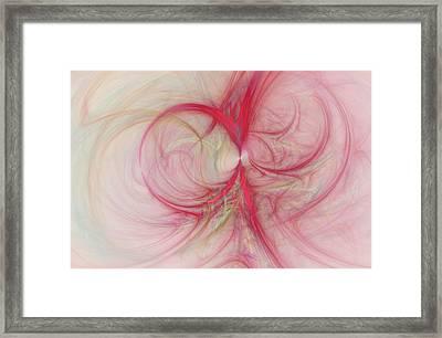 Pink Swirls Framed Print by David Ridley