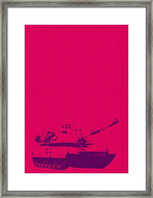 Framed Print featuring the mixed media Pink Tank by Michelle Dallocchio