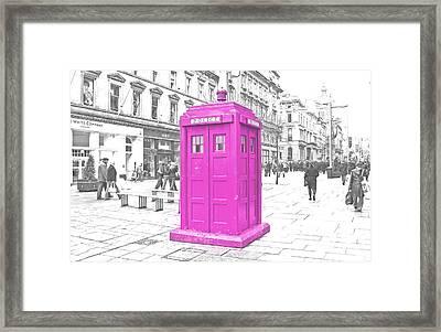 Pink Tardis  Framed Print by Rob Hawkins
