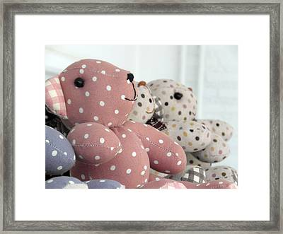 Pink Teddy Bear And Friends Framed Print by Ian Scholan