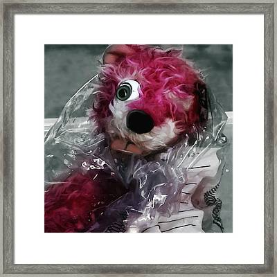 Pink Teddy Bear In Evidence Bag @ Tv Serie Breaking Bad Framed Print