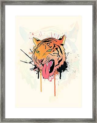 Pink Tiger  Framed Print