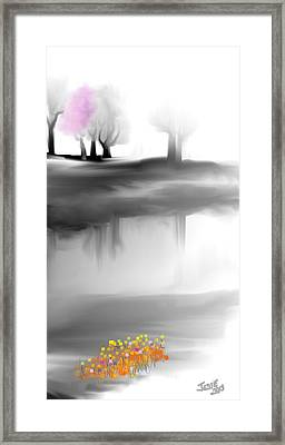 Pink Tree Framed Print