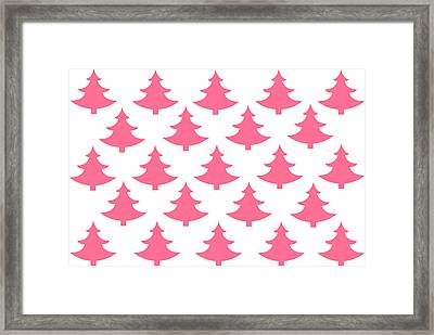 Pink Trees Framed Print by Chastity Hoff