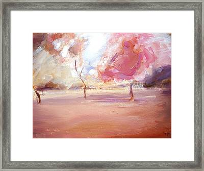 Pink Trees Framed Print by Tanya Byrd