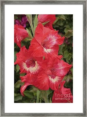 Pink Trumpet Painting In Digital Oil Framed Print