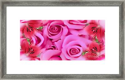 Framed Print featuring the painting Pink Upon Pink by Catherine Lott