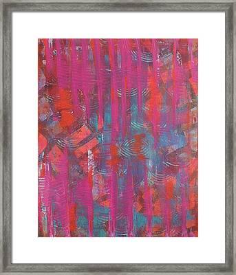 Pink Veil Framed Print by Debra Jacobson
