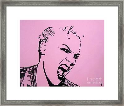 Pink Framed Print by Venus