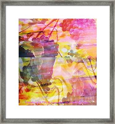Pink Vineyard Plumps Framed Print by PainterArtist FIN