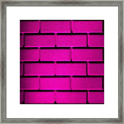 Pink Wall Framed Print
