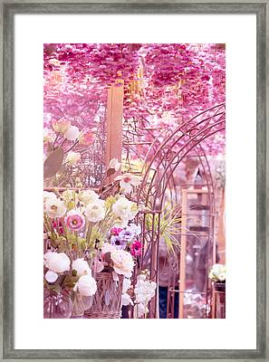Pink World. Amstedam Flower Market Framed Print by Jenny Rainbow