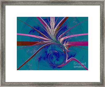 Pink Yucca Twist Framed Print by Elizabeth McTaggart