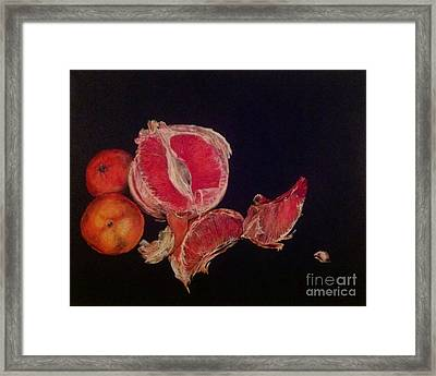 Framed Print featuring the painting Pink Zest by Iya Carson