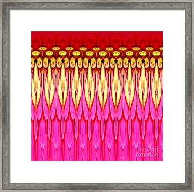 Pink Zinnia Polar Coordinate Framed Print by Rose Santuci-Sofranko