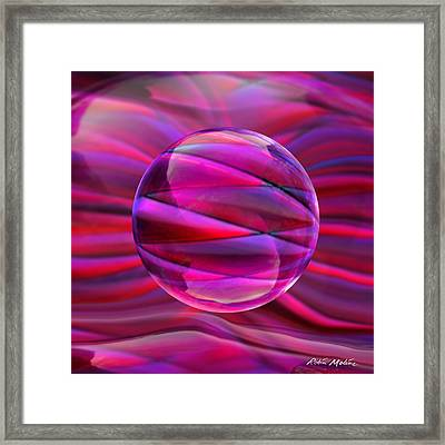 Pinking Sphere Framed Print by Robin Moline