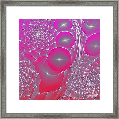 Framed Print featuring the digital art Pinky Space by Hanza Turgul