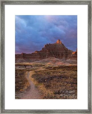 Pinnacle Path Framed Print