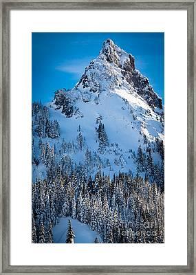 Pinnacle Peak Winter Glory Framed Print by Inge Johnsson