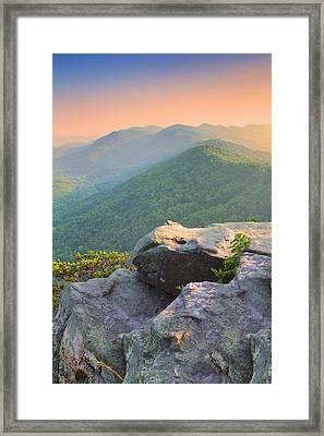 Pinnacle Rock Framed Print