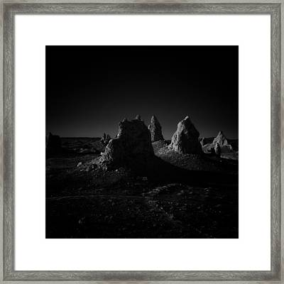 Pinnacles Facing The Sunrise Framed Print