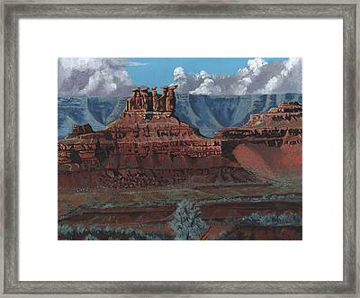 Pinnacles Of The West Framed Print by Timithy L Gordon