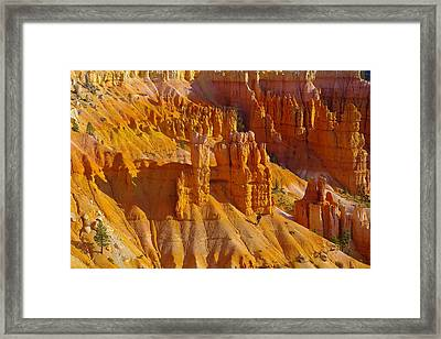 Pinnicles At Sunset Point Bryce Canyon National Park Framed Print by Jeff Swan