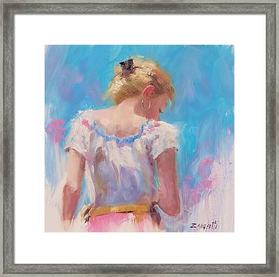 Pino Study Framed Print by Laura Lee Zanghetti