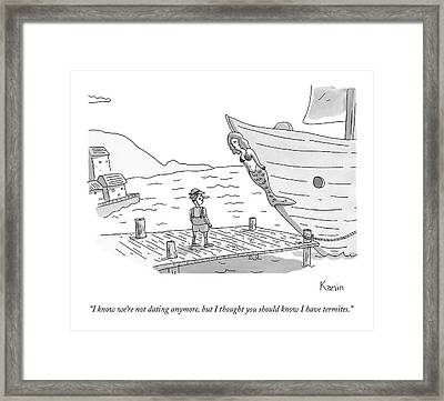 Pinocchio Addresses The Wooden Mermaid Framed Print