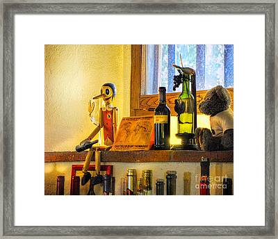Pinocchio All Grown Up Framed Print by Jennie Breeze
