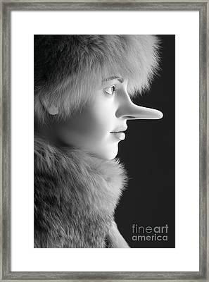 Pinocchios Daughter Framed Print by Sophie Vigneault