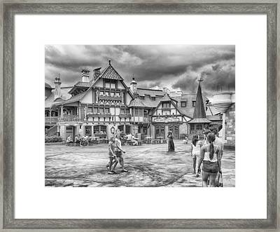 Framed Print featuring the photograph Pinocchio's Village Haus by Howard Salmon
