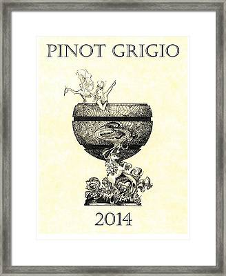 Pinot Grigio Framed Print by Julio Lopez