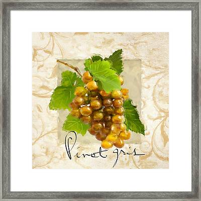 Pinot Gris Framed Print by Lourry Legarde
