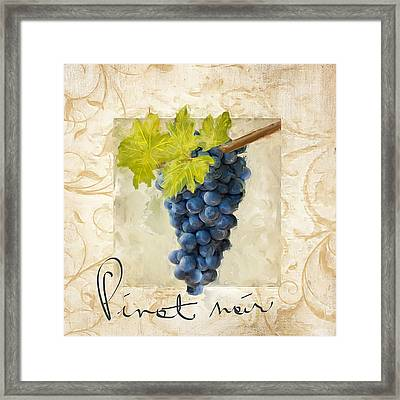 Pinot Noir Framed Print by Lourry Legarde