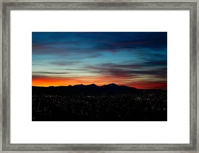 Pintler Sunset  Framed Print by Kevin Bone